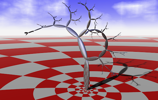 Ray-traced binary tree