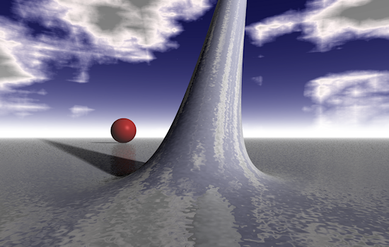 Ray-traced alien landscape