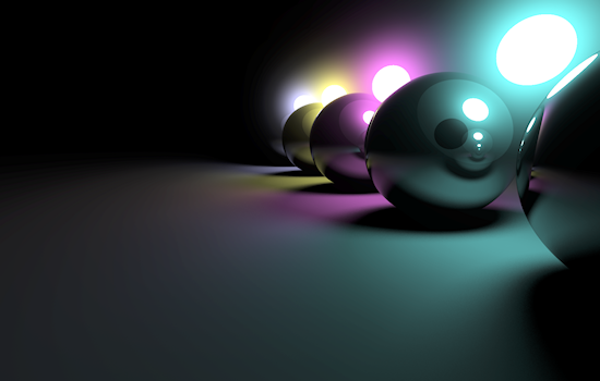 Ray-traced spheres