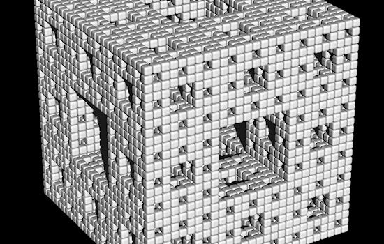 Ray-traced Menger sponge