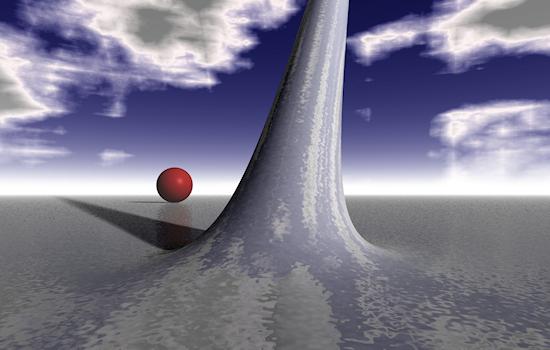 Ray-traced alien landscape